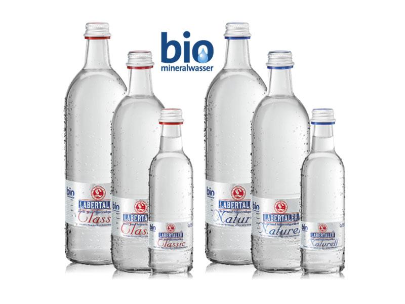 Bio-Mineralwasser-Siegel für Stephanie Gourmet-Mineralwasser von Labertaler