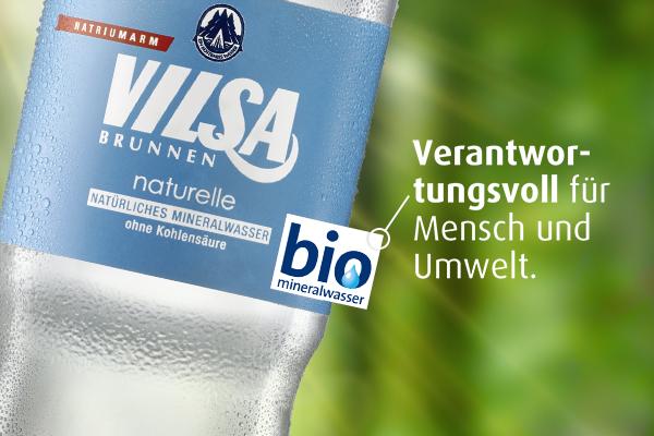 VILSA erhält Bio-Mineralwasser-Siegel